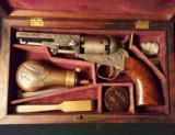 Very Fine Factory Engraved Cased Colt Model 1849 Pocket