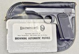 BROWNING MODEL 1910 .380 CALIBER IN ORIGINAL POUCH
