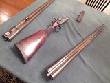 W&C. Scott 8 bore two barrel set in superb condition.(second set of bbls. is in 10 bore)