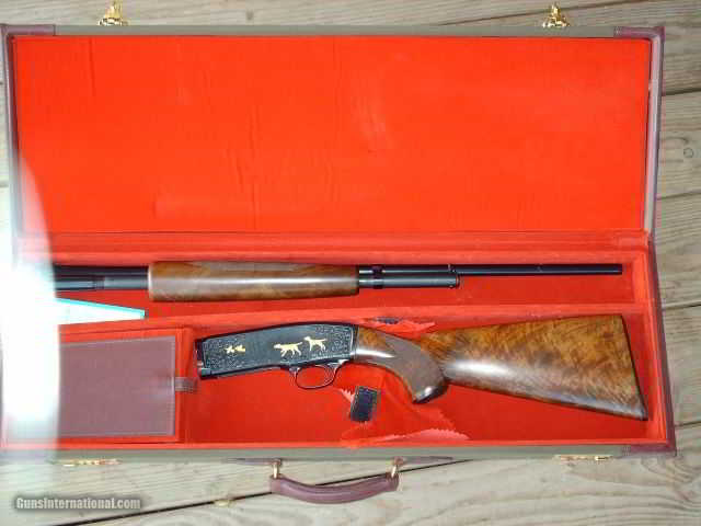 WINCHESTER M-42 PRE-WAR, SOLID RIB, ENGRAVED