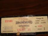 "BROWNING BELGIUM, LIGHT-20 GA. 28"" MOD. VENT RIB, ROUND KNOB, NEW UNFIRED 100% IN BOX, MFG 1962- 6 of 6"