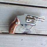 """SMITH & WESSON M-40 """"NO DASH"""" """"LEMON SQUEEZER""""CENTENNIAL,38 SPC. 2"""" NICKEL, UNFIRED, UNTURNED 100% COND. IN BOX - 3 of 3"""