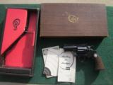 "COLT DIAMONDBACK 22 LR., ""RARE"" 2 1/2"" BLUE NEW UNFIRED, NO TURN RING, IN BOX WITH OWNERS MANUAL, ETC."