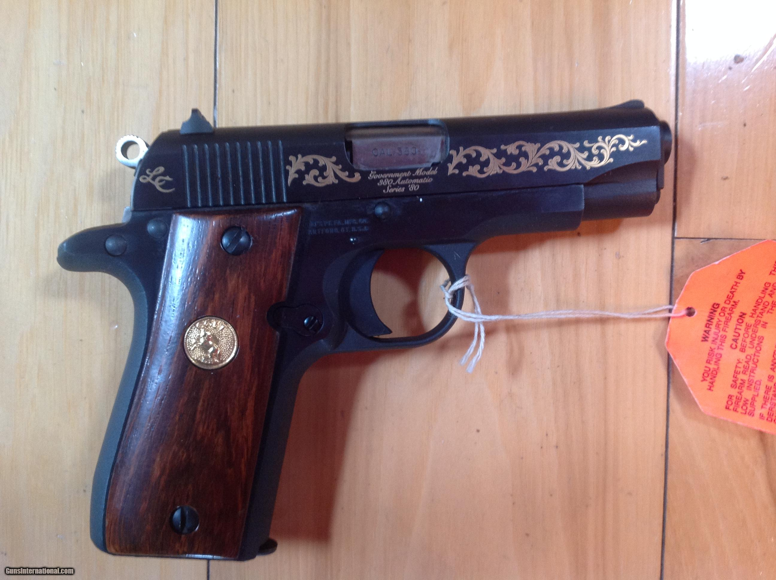 """... COLT """"LADY COLT"""" GOVERNMENT 380 CAL. FACTORY GOLD ENGRAVED, NEW UNFIRED  100"""