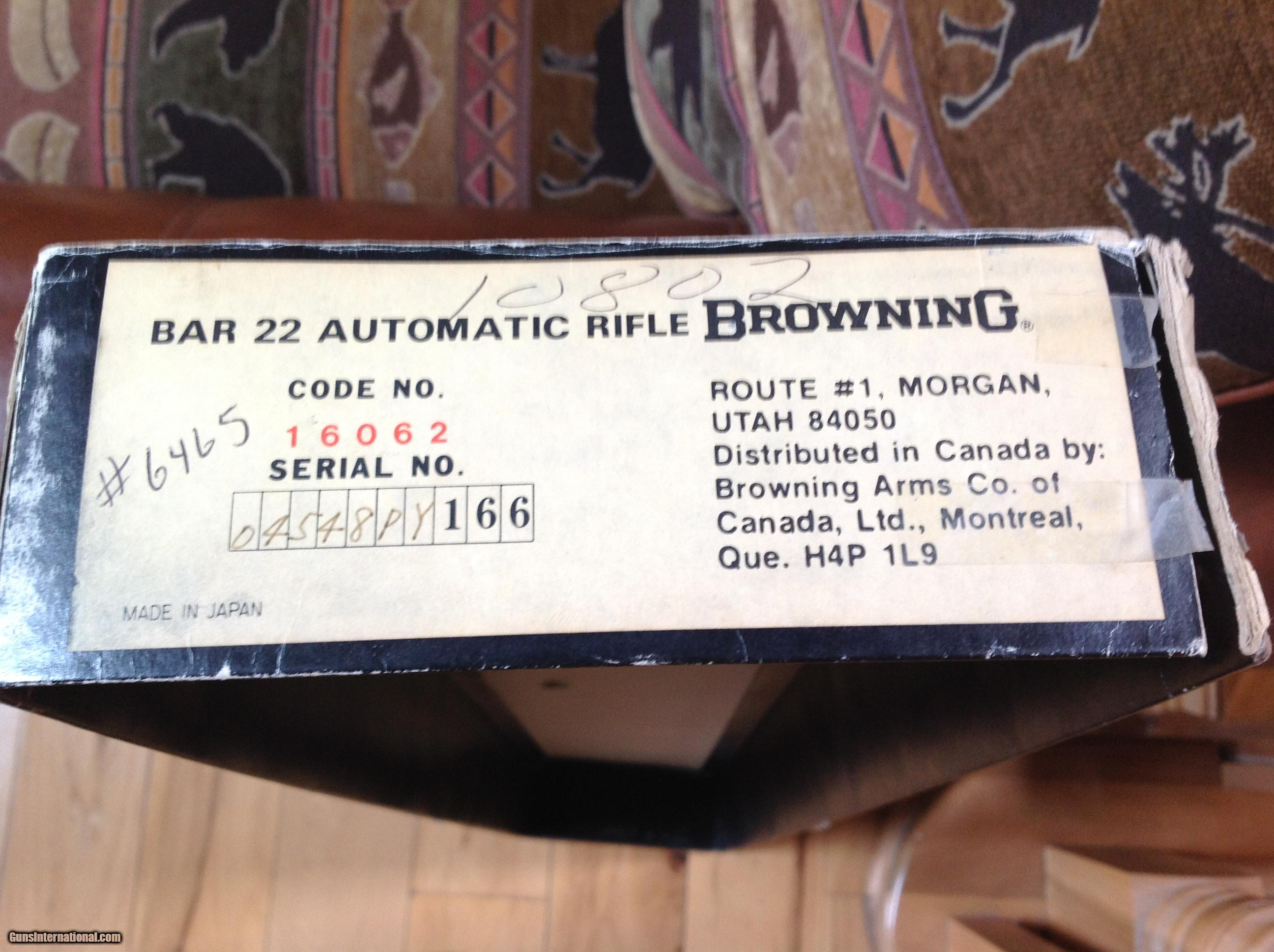 browning bar 22 lr new unfired in box with owners manual rh gunsinternational com Browning Boss CR Review Browning Boss Chart