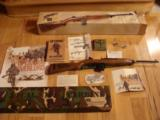 M-1 CARBINE, 30 CAL, D-DAY.OPERATION OVERLORD COMMERATIVE, HAS INVASION OF NORMANDY BATTLE SCENE ENGRAVED IN STOCK