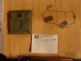 M-1 CARBINE, 30 CAL, D-DAY.OPERATION OVERLORD COMMERATIVE, HAS INVASION OF NORMANDY BATTLE SCENE ENGRAVED IN STOCK - 3 of 5