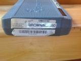 BROWNING BDA BRITE NICKEL, 380 CAL. AS NEW IN BOX. A VERY SCARCE GUN IN NICKEL - 4 of 4