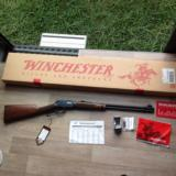 WINCHESTER 9417, 17 HMR. CAL. [TRADITIONAL MODEL] WITH ENGLISH STOCK, NEW UNFIRED 100% COND. IN BOX