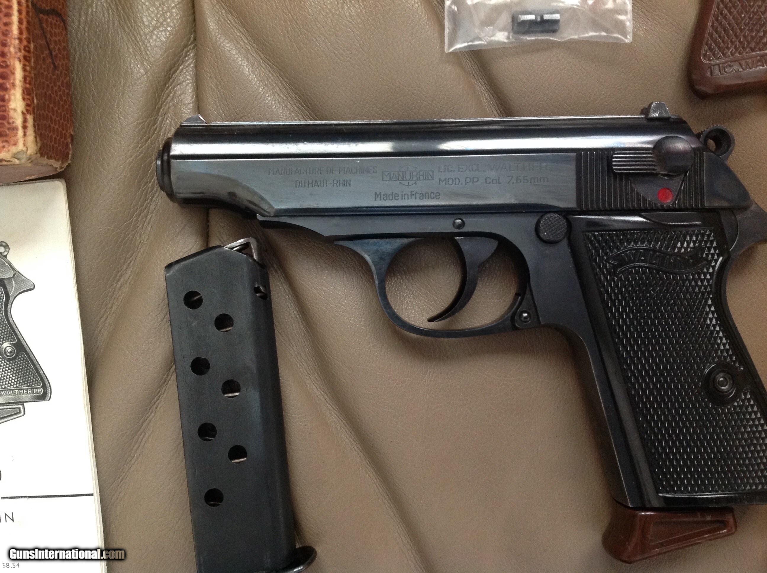 walther manurhin pp 32 acp mfg in france 99 blue in box with rh gunsinternational com Walther PPK 32 Auto Walther 32 PPK S Serial Chart