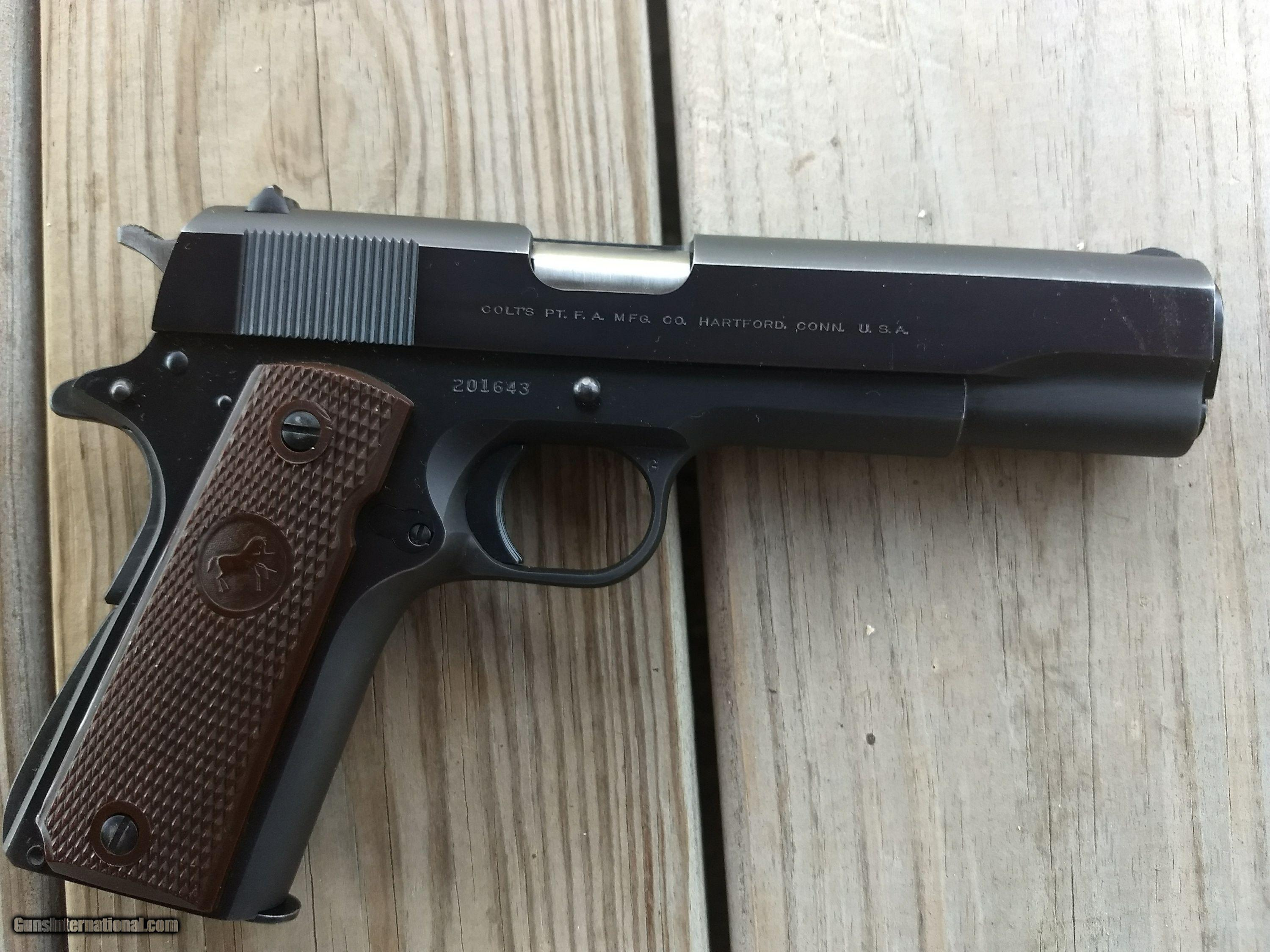 1968, LIKE COLT SUPER 38 AUTOMATIC PISTOL, SAME AS GOVERNMENT MODEL, MFG.