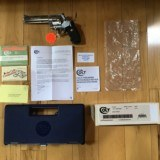 """COLT ANACONDA 44 MAGNUM, 6"""" STAINLESS, NEW UNFIRED, UNTURNED, 100% COND. IN COLT BLUE BOX WITH COLT PICTURE BOX SLEEVE"""