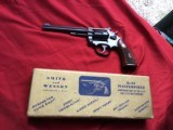 "SMITH & WESSON K-22, PRE MODEL 17, 6"" BLUE, NEW UNFIRED, NO TURN RING, IN THE GOLD BOX"