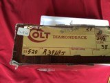 """COLT DIAMONDBACK 38 SPC., 2 1/2"""" BLUE, NEW, UNTURNED, 100% COND., IN FACTORY GREASE, IN BOX - 3 of 4"""