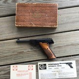 "COLT HUNTSMAN, 4 1/2"" BARREL, MFG. 1960, 99% COND., COMES WITH OWNERS MANUAL & WARRANTY CARD IN. BOX - 1 of 4"