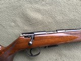 """SAVAGE ANSCHUTZ 164 M SPORTER, 22 MAGNUM CAL. 24"""" BARREL, GROOVED RECEIVER FOR.SCOPE, MONTE CARLO WALNUT STOCK WITH A FEW HANDLING MARKS, 99% B - 7 of 9"""