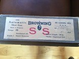 "BROWNING BELGIUM A-5, SWEET-16, 26"" IMPROVED CYLINDER, VENT RIB, MFG. 1955, NEW UNFIRED 100% COND. IN BLUE BOX - 5 of 5"