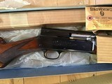 "BROWNING BELGIUM A-5, SWEET-16, 26"" IMPROVED CYLINDER, VENT RIB, MFG. 1955, NEW UNFIRED 100% COND. IN BLUE BOX - 2 of 5"