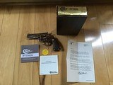 "COLT PYTHON 357 MAGNUM, 4"" BRIGHT NICKEL, NEW UNFIRED, UNTURNED, 100% COND. IN BOX, MFG. 1980"