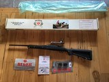 RUGER 77, 7.62 X 39 CAL. SKELETON STOCK, BLUE RECEIVER & BARREL, ( RARE) IN THIS CONFIGURATION, NEW UNFIRED IN BOX