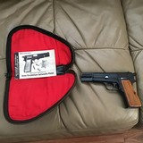 BROWNING BELGIUM HI POWER 9MM, MOST DESIRABLE T-SERIES WITH RING HAMMER, MFG. 1967, 99+% COND. COMES WITH OWNERS MANUAL AND ORIGINAL ZIPPER POUCH