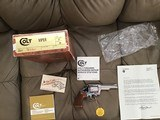 """COLT VIPER 38 SPC., 4"""" BRIGHT NICKEL, NEW UNFIRED NO TURN RING, 100% COND. N THE BOX"""
