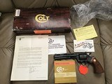 "COLT DIAMONDBACK 22LR. 6"" BLUE, NEW UNFIRED IN BOX"