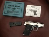 BRYCO 380 CAL. MODEL 38, CHROME LIKE NEW COND. IN BOX WITH OWNNERS MANUAL AND EXTRA CLIP.