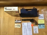 """COLT PYTHON 357 MAGNUM, 8"""" ROYAL BLUE"""" NEW UNFIRED IN COLT PICTURE BOX"""