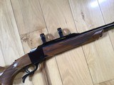 RUGER #1, TROPICAL 375 H&H CAL. APPEARS UNFIRED, LIGHT COLORED WALNUT WOOD, 100% COND. - 7 of 7