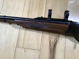RUGER #1, TROPICAL 375 H&H CAL. APPEARS UNFIRED, LIGHT COLORED WALNUT WOOD, 100% COND. - 3 of 7