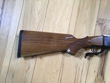 RUGER #1, TROPICAL 375 H&H CAL. APPEARS UNFIRED, LIGHT COLORED WALNUT WOOD, 100% COND. - 5 of 7