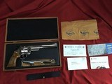 "SMITH & WESSON 57 NO DASH, 41 MAGNUM, 8 3/8"" NICKEL, NEW UNFIRED IN WOOD PRESENTATION CASE, WITH TOOLS & OWNERS MANUAL, ETC."