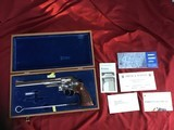 "SMITH & WESSON 29-2, 44 MAGNUM, 8 3/8"" NICKEL, COMES WITH TOOLS, OWNERS MANUAL, ETC. IN SMITH & WESSON PRESENTATION WOOD CASE"