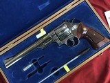 """SMITH & WESSON 29-2, 44 MAGNUM, 8 3/8"""" NICKEL, COMES WITH TOOLS, OWNERS MANUAL, ETC. IN SMITH & WESSON PRESENTATION WOOD CASE - 2 of 9"""