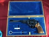 "SMITH & WESSON 27-2, 357 MAGNUM, 8 3/8"" BLUE, NEW UNFIRED IN S&W, WOOD PRESENTATION CASE, COMES WITH TOOLS, OWNERS MANUAL, ETC."