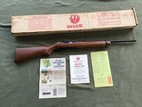 RUGER 44 AUTO, 44 MAGNUM CARBINE, NEW UNFIRED IN BOX WITH OWNERS MANUAL, ETC. IN THE BO