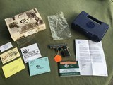 COLT GOVERNMENT 380 CAL. STAINLESS NEW UNFIRED 100% COND. IN THE COLT PICTURE BOX - 1 of 4