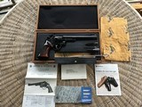 """SMITH & WESSON 41 MAGNUM, MODEL 57-1, 8 3/8"""" BARREL, BLUE, AS NEW COND. IN S&W WOOD PRESENTATION CASE"""
