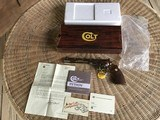 """COLT PYTHON 357 MAGNUM 8"""" BRIGHT NICKEL, MFG. 1981 NEW UNFIRED, 100% COND. IN THE BOX"""