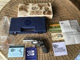 "COLT ANACONDA 44 MAGNUM, 4"" STAINLESS, NEW UNFIRED, 100% COND. IN THE BLUE BOX WITH PICTURE BOX SLEEVE"