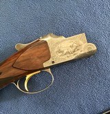 """BROWNING SUPERPOSED 28 GA. POINTER GRADE, 26 1/2"""" SKEET & SKEET, MFG. 1962, ROUND KNOB, LONG TANG, SIGNED BY THE ENGRAVER MARCIAL ON BOTH SIDES. - 5 of 7"""