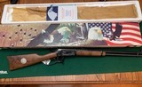 "WINCHESTER 94, 375 WINCHESTER CAL. ""AMERICAN BALD EAGLE"" COMMERATIVE 20"" ROUND BARREL, NEW UNFIRED IN THE BOX"