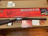 """WINCHESTER 9422, 22 LR. """"FINAL TRIBUTE""""TRADITIONAL, GOLD HORSE RIDER, NEW UNFIRED IN THE BOX WITH OWNERS MANUAL & HANG TAG,ETC."""