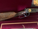 """WINCHESTER 94 """"LARRY BIRD"""" 38-55 CAL. COMMERATIVE, WITH BOWIE KNIFE, NEW IN PRESENTATION CASE - 4 of 8"""