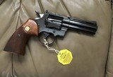"COLT PYTHON 357 MAGNUM, 4"" BLUE, MFG. 1969, AS NEW COND.,COMES WITH TEST TARGET, OWNERS MANUAL, HANG TAG, ETC. IN THE BOX - 5 of 8"