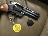 "COLT PYTHON 357 MAGNUM, 4"" BLUE, MFG. 1969, AS NEW COND.,COMES WITH TEST TARGET, OWNERS MANUAL, HANG TAG, ETC. IN THE BOX - 4 of 8"
