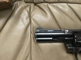 "COLT PYTHON 357 MAGNUM, 4"" BLUE, MFG. 1969, AS NEW COND.,COMES WITH TEST TARGET, OWNERS MANUAL, HANG TAG, ETC. IN THE BOX - 2 of 8"