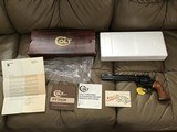 """COLT PYTHON 357 MAGNUM, 8"""" BLUE, MFG. 1980, AS NEW IN BOX, COMES WITH OWNERS MANUAL, HANG TAG, COLT LETTER. ETC."""