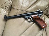 """RUGER MARK I, TARGET, 22 LR. 6 7/8"""" BARREL, 99+% COND. COMES WITH 2 SETS OF GRIPS, APPEARS UNFIRED, IN THE BOX - 3 of 7"""